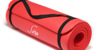 Featured image for Sivan Yoga Mat with red colored sivan yoga mat for sale at Amazon.com only $17.99 with option for Free shipping